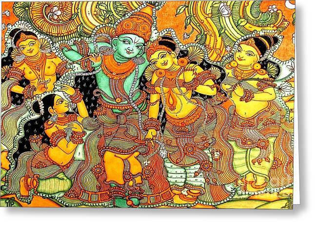 Krishna In Vrindavan Greeting Card