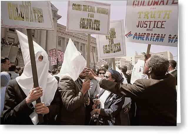 Ku Klux Klan Members Supporting Barry Greeting Card