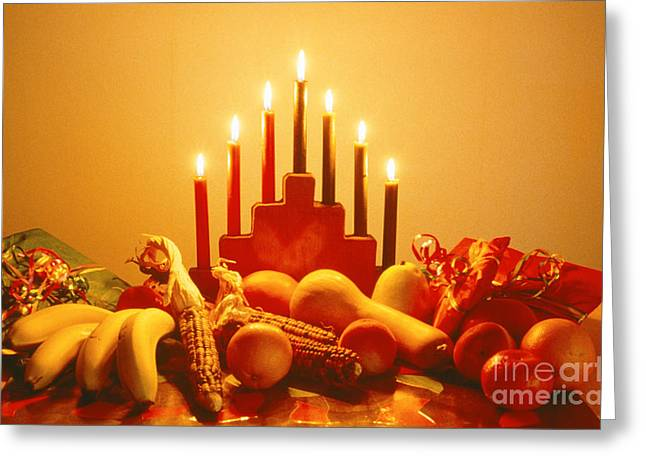 Kwanzaa Greeting Card by Lawrence Migdale