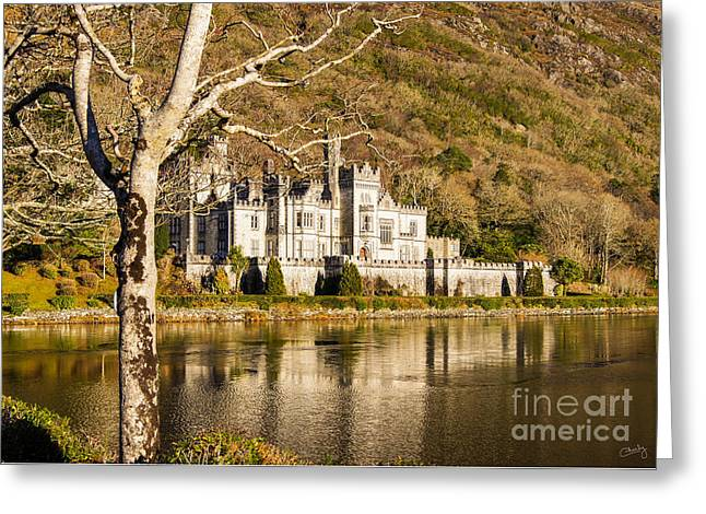 Kylemore Abbey In Winter Greeting Card
