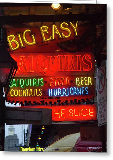 La, New Orleans, French Quarter, Neon Greeting Card