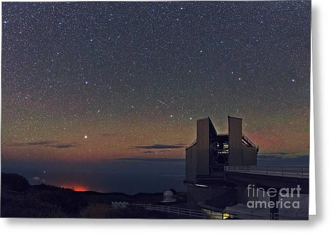 La Palma Observatory Greeting Card by Babak Tafreshi