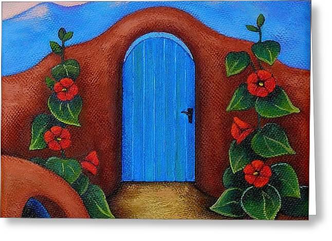 La Puerta Azul Greeting Card