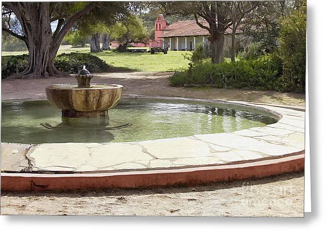 La Purisima Fountain Greeting Card