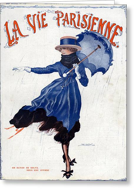 La Vie Parisienne 1918 1910s France Leo Greeting Card