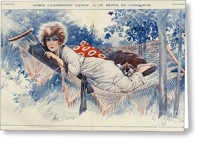 La Vie Parisienne 1920s France Maurice Greeting Card by The Advertising Archives