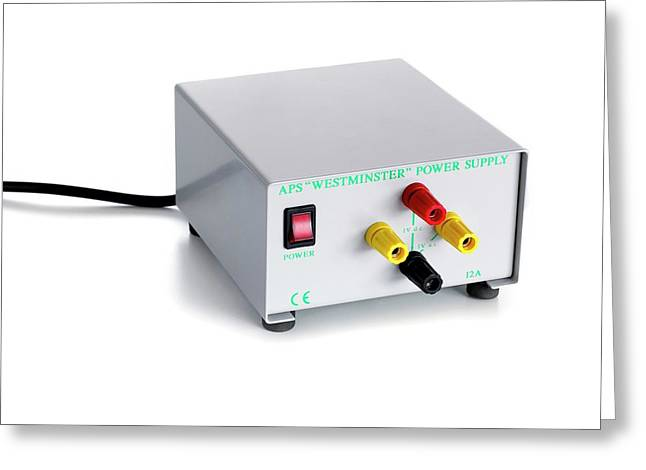 Laboratory Ac Dc Power Supply Greeting Card by Science Photo Library