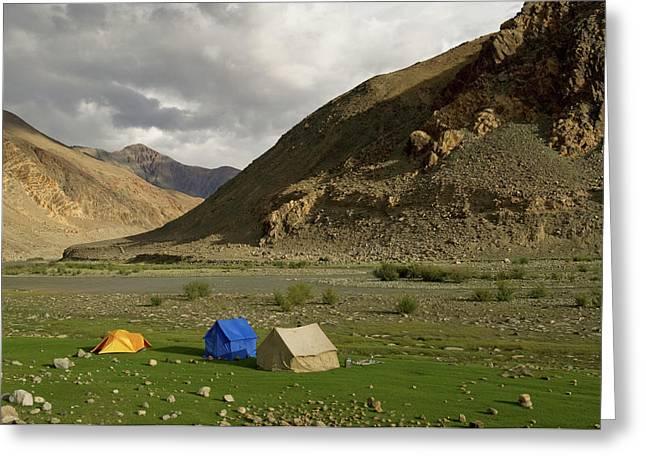 Ladakh, India The Landscapes Greeting Card by Jaina Mishra