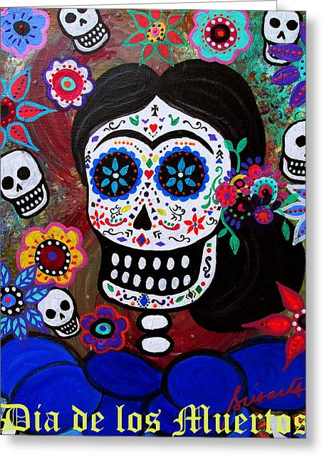 Lady Frida Greeting Card by Pristine Cartera Turkus