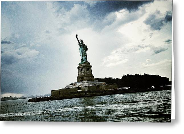 Lady Liberty Greeting Card by Natasha Marco