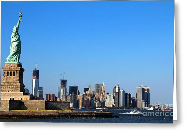 Lady Liberty Watches 1wtc Rise Greeting Card