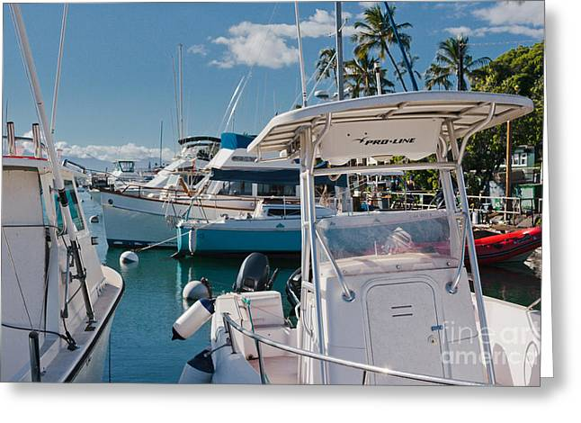 Lahaina Marina Maui Hawaii Greeting Card