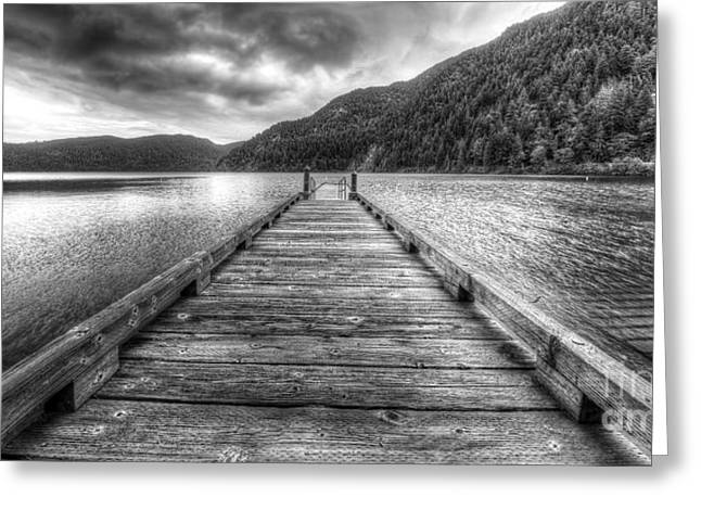 Lake Crescent In Olympic National Park Greeting Card