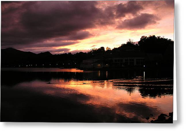 Greeting Card featuring the photograph Lake J Sunset by Craig T Burgwardt