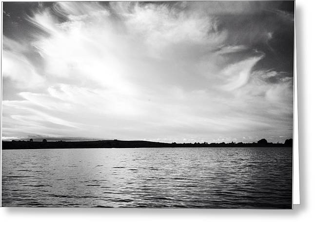 Lake Greeting Card by Les Cunliffe