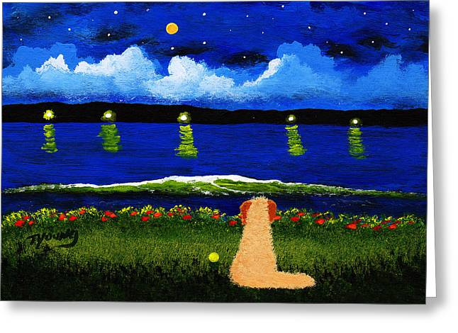 Lake Lights Greeting Card by Todd Young