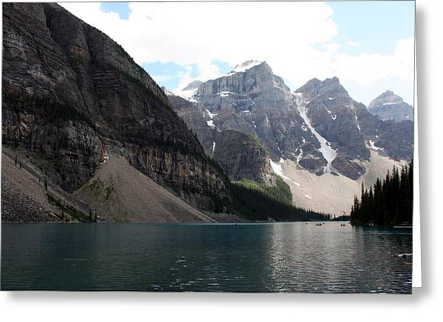 Lake Moraine Greeting Card by Carolyn Ardolino