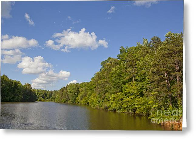 Lake Norman Cove Greeting Card by Jonathan Welch