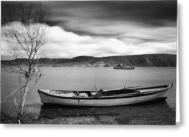 Greeting Card featuring the photograph Lake by Okan YILMAZ
