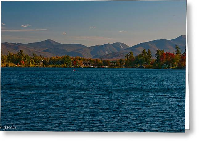 Lake Placid And The Adirondack Mountain Range Greeting Card