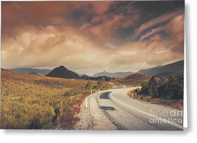 Lake Plimsoll Road. Tasmanian Landscape Greeting Card by Jorgo Photography - Wall Art Gallery