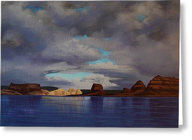 Lake Powell Storm Greeting Card