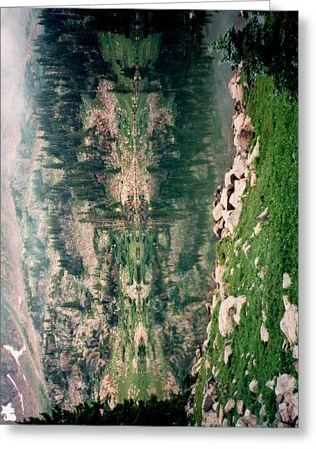 Lake Reflection Sideways Greeting Card