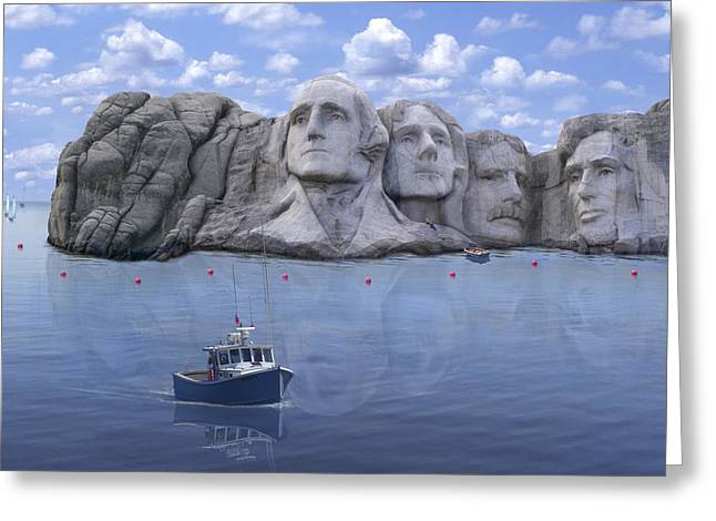 Lake Rushmore - Special Greeting Card by Mike McGlothlen