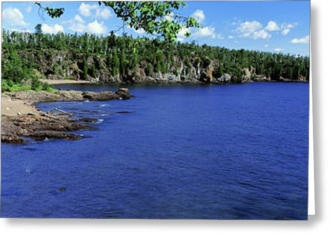 Lake View, Lake Superior, Duluth Greeting Card by Panoramic Images