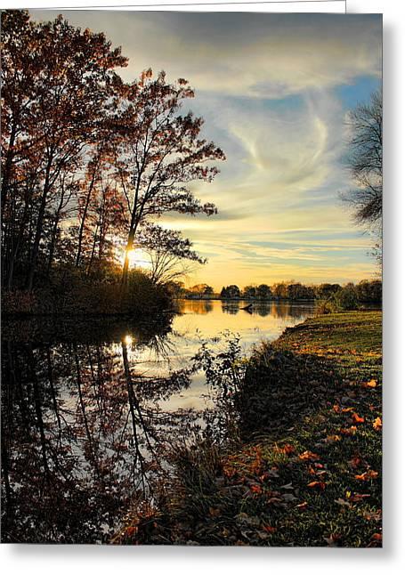 Lake Wausau Sunset Greeting Card