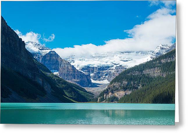 Lake With Canadian Rockies Greeting Card by Panoramic Images