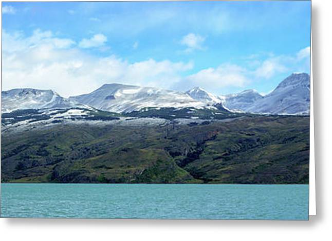 Lake With Snow Capped Mountains Greeting Card by Panoramic Images