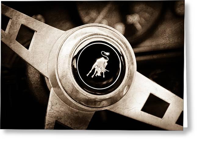 Lamborghini Steering Wheel Emblem Greeting Card