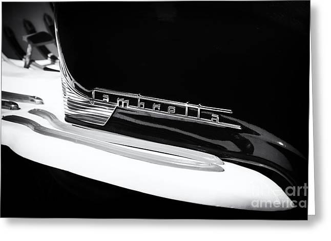 Lambretta Monochrome Greeting Card by Tim Gainey