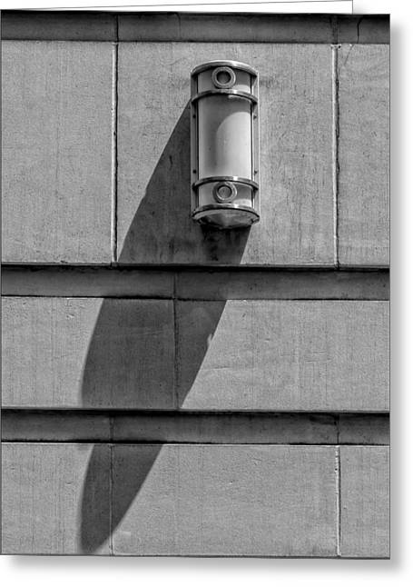 Lamp And Shadow Greeting Card by Robert Ullmann