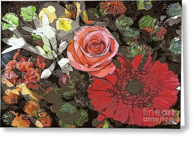Greeting Card featuring the digital art Lancaster Flowers by Joseph J Stevens