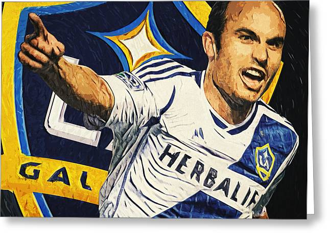 Landon Donovan Greeting Card by Taylan Apukovska