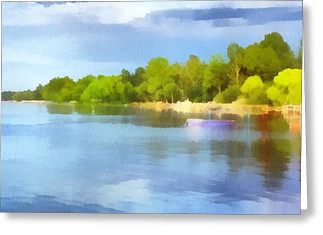 Landscape Of The Balaton Lake Greeting Card
