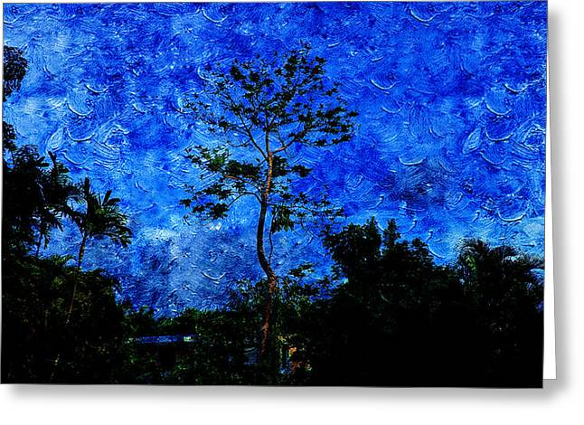 Landscapes In Blue Sky Greeting Card