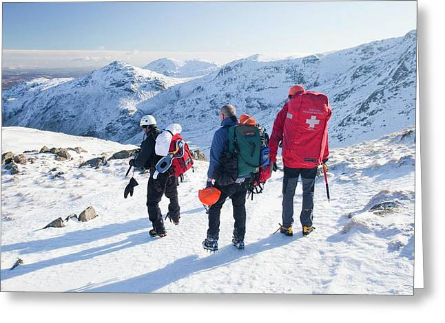 Langdale Ambleside Mountain Rescue Team Greeting Card