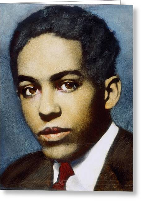 Langston Hughes (1902-1967) Greeting Card by Granger