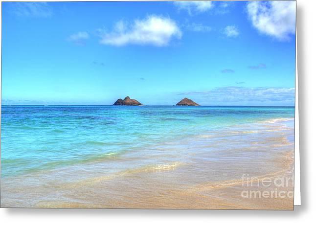 Lanikai Beach Oahu Hawaii Greeting Card