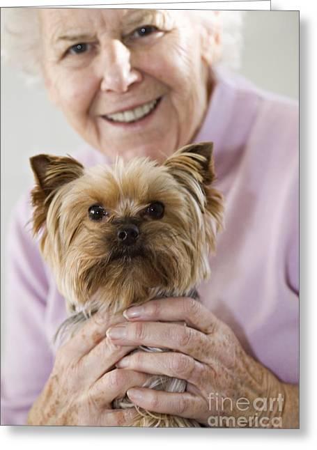 Lap Dog Greeting Card by Cristina Pedrazzini