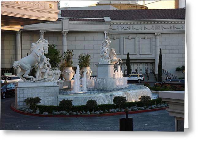 Las Vegas - Caesars Palace - 12123 Greeting Card by DC Photographer