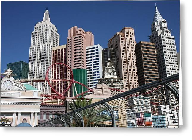 Las Vegas - New York New York Casino - 12123 Greeting Card by DC Photographer
