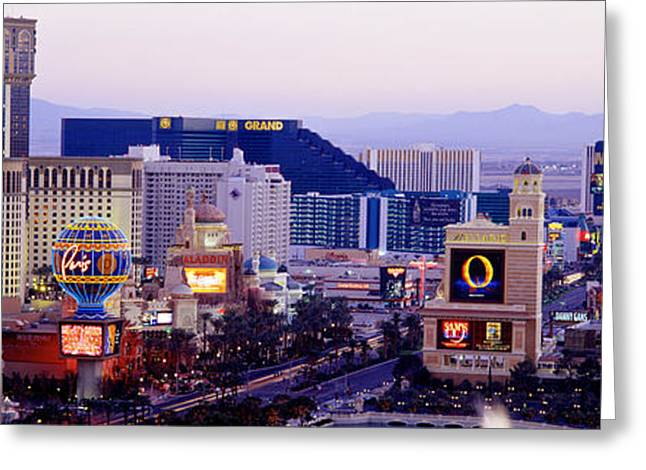 Las Vegas Nv Usa Greeting Card by Panoramic Images