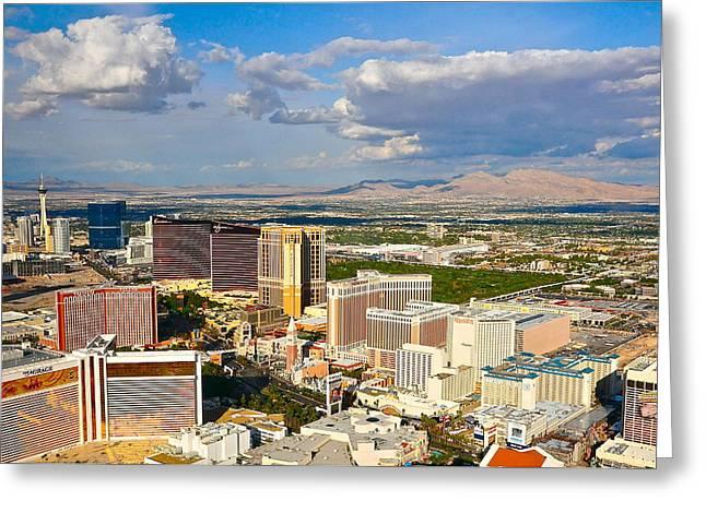 Las Vegas Strip  Greeting Card by Amanda Miles