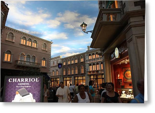 Las Vegas - Venetian Casino - 12125 Greeting Card by DC Photographer