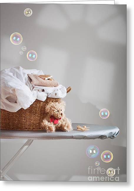 Laundry Greeting Card by Amanda Elwell