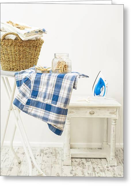Laundry Room Greeting Card by Amanda Elwell